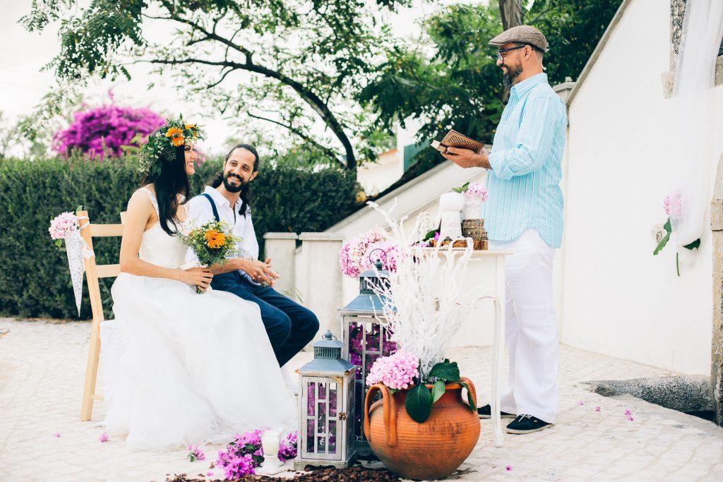 elopement boho quinta de alcube cerimônia com celebrante