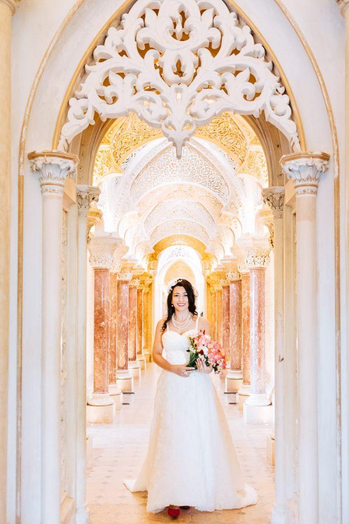 noiva no palácio